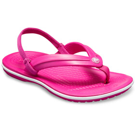 Crocs Crocband Strap Flip Sandals Kids Candy Pink
